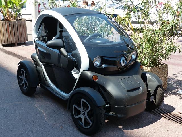 Electric Green Car